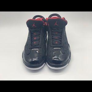 Air Jordan Dub Zero shoes Black/varsity red.